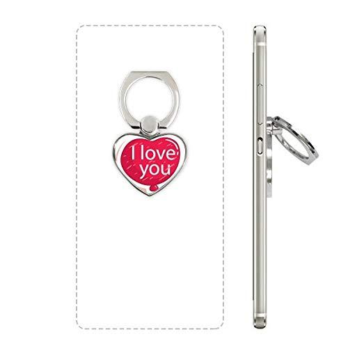 DIYthinker Valentijnsdag Roze Ik hou van je Ballon Hart Telefoon Ring Stand Houder Beugel Universele Ondersteuning Gift