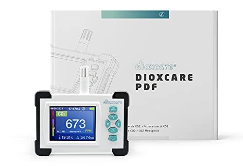 Medidor de CO2 Dioxcare PDF, Sensor NDIR de Alta precisión con envío de Datos PDF al Ordenador, Detector de CO2, Temperatura y Humedad