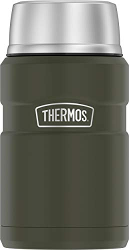 Thermos 24Ounce Stainless Steel Vacuum Insulated Food Jar Army Green one size