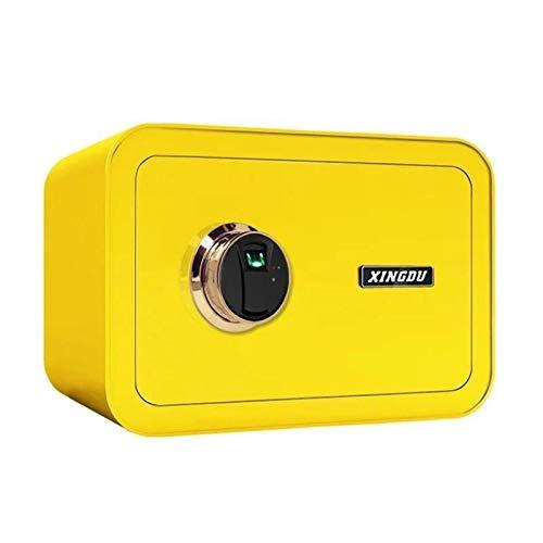 Cassaforte Piccola casa cassaforte nascosta mini tavolo da imballaggio impronta digitale invisibile piccola cassaforte 25 cm in-muro antifurto .Fornirti una cassetta di sicurezza ( Color : Yellow )
