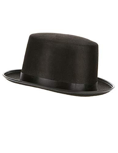 DEGUISE TOI - Chapeau Haut de Forme Noir Adulte - Taille Unique