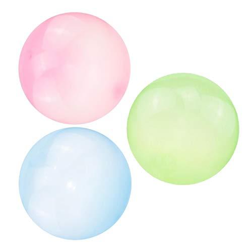 harayaa Paquete de 3 Globos de Bola de Burbujas Elásticos Transparentes para Piscina, Juguete para Fiesta de Cumpleaños, 70 Cm