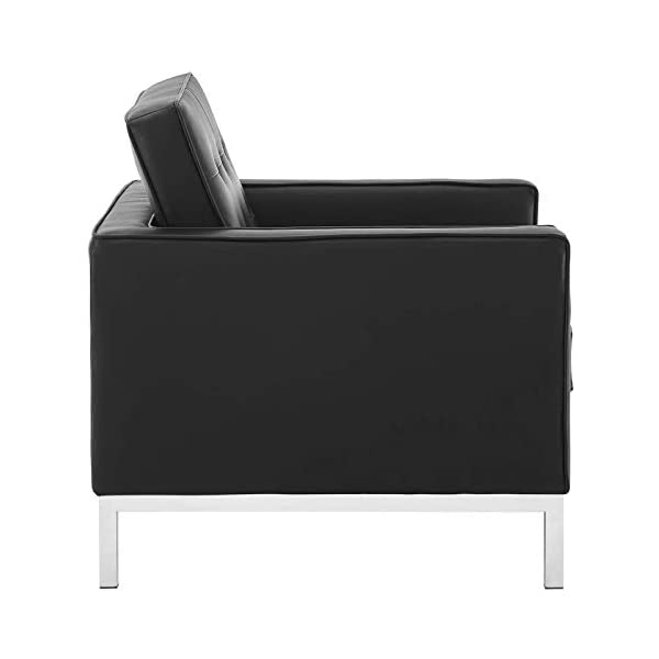 ModwayLoft Tufted Large Upholstered Faux Leather Couch 3