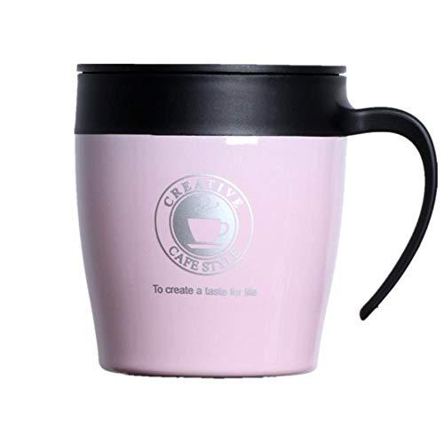DROHOEY dubbele isolatie volgens de roestvrijstalen isoleer metaal Fles BPA, 330 ml perfecte kop hete drank,330ml,roze