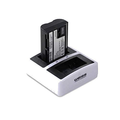 More Power + batería y estación de carga dual para Nikon EN-EL15b Li-Ion 2050 mAh compatible con Nikon Z6 | Nikon Z7 | Nikon D7200 [compatible con Nikon EN-EL15a y Nikon EN-EL15]