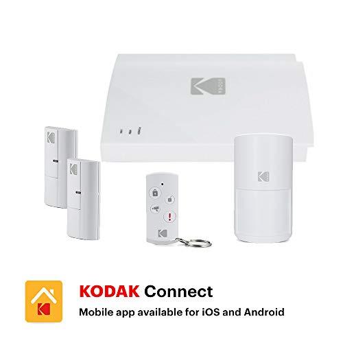 KODAK SA101 Système d'alarme connecté avec batterie et sirène intégrées, compatible avec les caméras KODAK et avec les prises connectées...