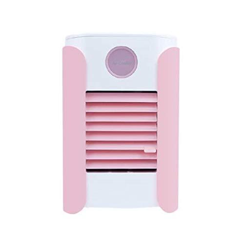 Alimentado por USB Portátil Conveniente Moda Música de Escritorio Acondicionador de Aire Refrigerador Refrigeración por Agua Mini Ventilador Humidificador