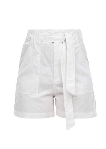 Q/S designed by - s.Oliver Damen Shorts aus Leinenmix White 36