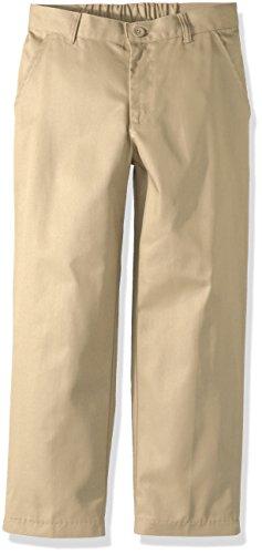 Classroom School Uniforms Big Boys Husky Flat Front Pant, Khaki, 12H