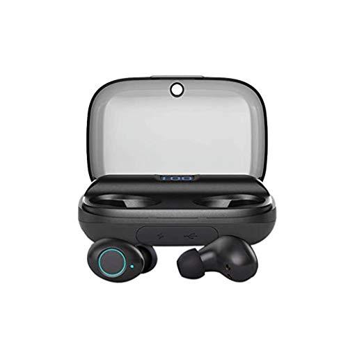 NXYJD Auriculares Bluetooth Auriculares con control táctil de carga inalámbrica estuche estanco al agua auriculares estéreo en la oreja con el micrófono incorporado auricular de nivel superior Deep Ba