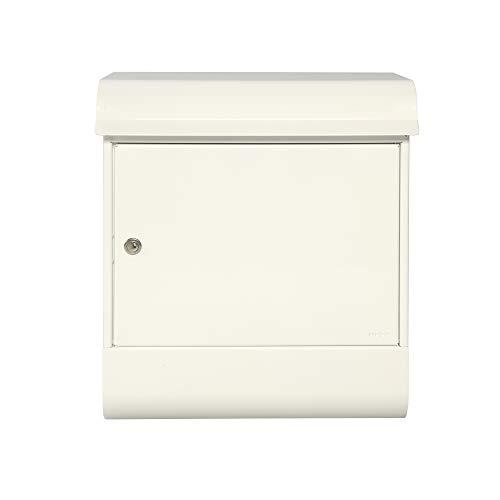 Renz 495000M MEFA pakketbrievenbus Magnum 495 (kleur verkeerswit, brievenbus met slot, met opbergplaat grootte 573 x 430 x 310 mm), wit