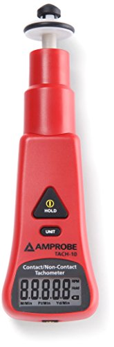 Amprobe TACH-10 Tachometer with Contact and Non-Contact Measurement