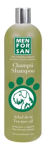Menforsan Champú perros con árbol de te, Champú anti picores, Calma la piel