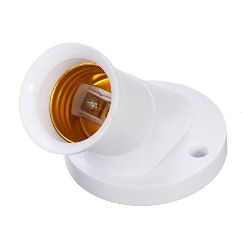 Bazaar E27 douille à vis oblique convertisseur porte-ampoule de l'adaptateur en plastique blanc