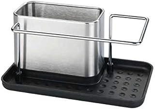 WENKO Organiseur de lavage de vaisselle Orio, Casiers de rangement pour évier de qualité supérieure, en acier inox, caddie...