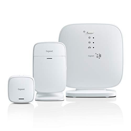 Alarma Gigaset para casa con aplicación en el móvil - sin cuotas - Ampliable con más sensores - con cifrado de Alta Seguridad para Evitar intrusiones en el Sistema
