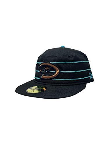 New Era Arizona Diamondbacks Pillbox Cap Flat Brim Hat (7 5/8, Black) (7 1/2, Black MLB Pillbox)