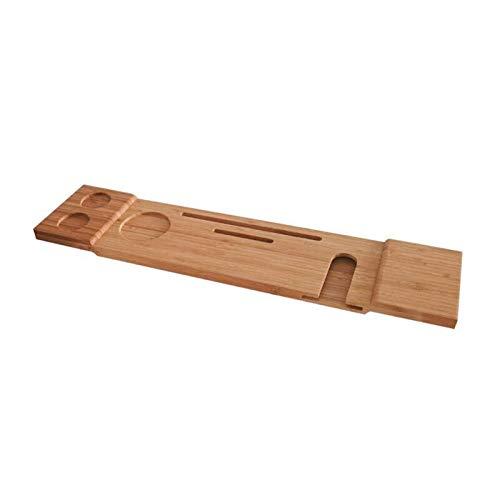 Vassoio Vasca Da Bagno Vasca da bagno Vassoio Bamboo Organizer Shelf Book Vino Tablet Portasciugamani Portastruttura Reading Rack Nonlip Bottom Vaschetta da bagno Vassoio Mensola Per Vasca Da Bagno