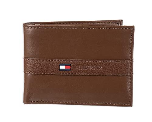 Tommy Hilfiger 31TL22X062-200 Portefeuille avec 6 Poches pour Cartes de crédit et fenêtre d'identification Amovible Beige