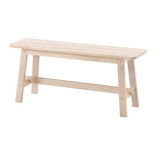 IKEA(イケア) NORRAKER ベンチ, ホワイト バーチ (60275341)
