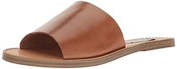 Steve Madden Women s Grace Flat Sandal Cognac Leather 7.5 M US