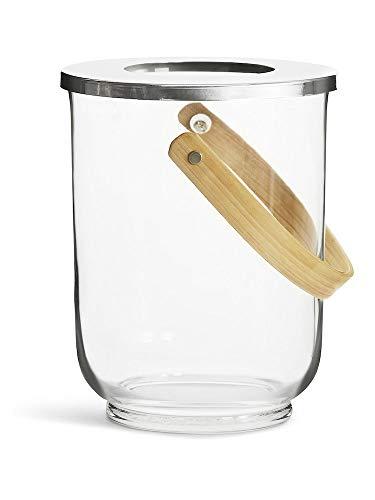Sagaform Windlicht Glas mit Holzgriff, transparent, One Size, 5017329