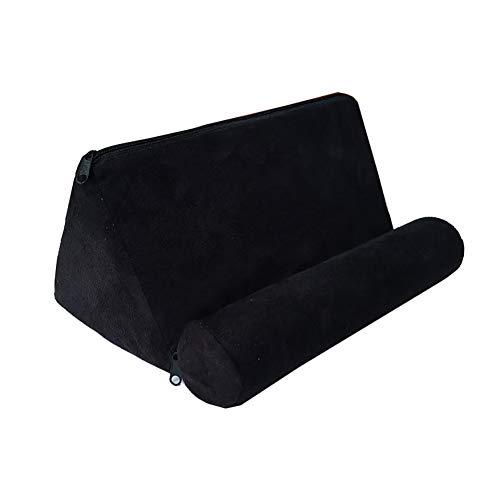 Almohada para tableta para teléfono inteligente, de felpa mini tableta soporte de lectura para sofá o tableta de pie para uso doméstico o oficina