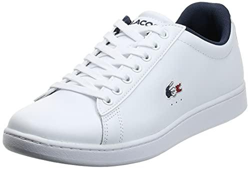 Lacoste Herren Carnaby EVO TRI1 SMA Sneaker, Blanc (Wht/NVY/Red), 42.5 EU