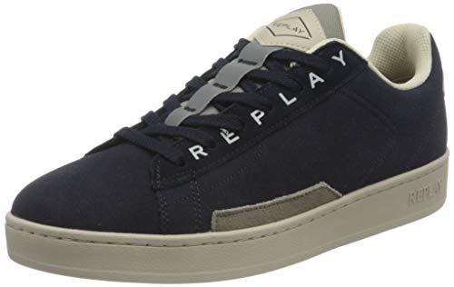 REPLAY Iron , Zapatillas para Hombre , Azul ( 194 Gris Marino ) , 43 EU