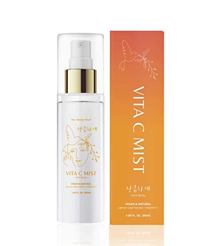 VITA C MIST: Organic Facial Toner Spray & Makeup Fixer   94.1% Lemon Leaf Extract + Vitamin C, Vegan, Cruelty Free, Paraben free. 50ml