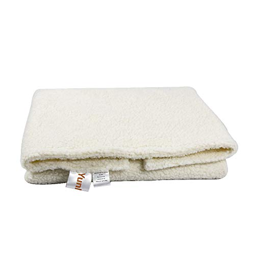 """YunNarl Pet Blanket Dog Kennel Pad, Ultra Soft Fleece Dog Crate Pad, Dog Crate Mat, Anti-Skid Bottom Crate Pad, Easy to Clean Dog Blanket, Cushion for Dogs, Cat Blanket (Small (2432""""), White)"""