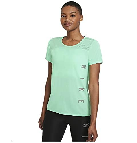 NIKE Camiseta para Hombre Run Dvn Miler, Hombre, Camiseta, DA1246, Green Glow/White/Reflective Si, Medium