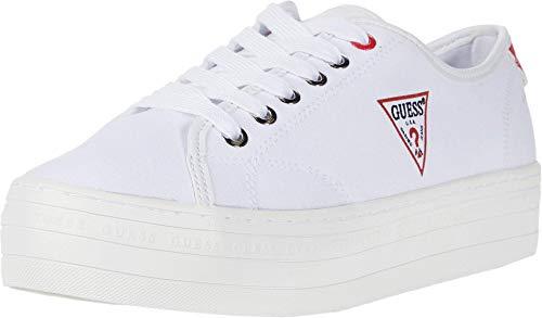 GUESS Buddi Tenis para Mujer, Blanco, 7.5 US
