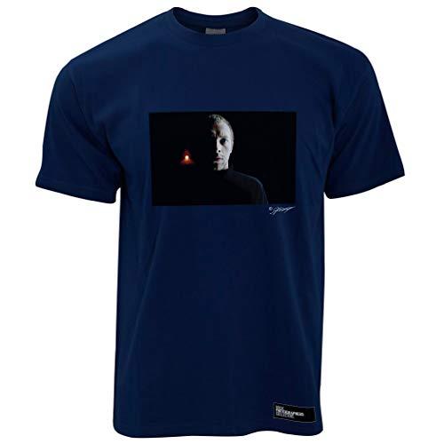 Chris Martin, Coldplay, London, 2000 (AC) Herren T-Shirt - Marineblau/XL