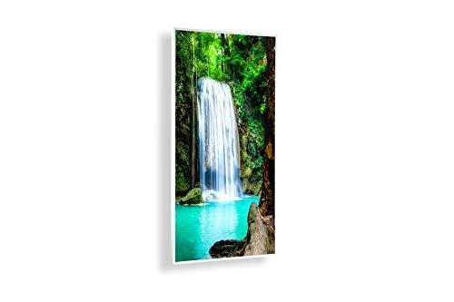 Könighaus Fern Infrarotheizung – Bildheizung in HD Qualität mit TÜV/GS - 200+ Bilder - 450 Watt (6. Wasserfall)