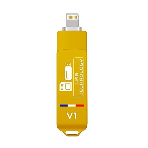 Memoria USB de 512 GB – USB 3.1 + compatible con iPhone – V1 – Metal – Ultra rápido – Excelente calidad