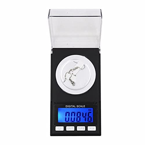 Präzision 100g / 50g / 20g 0 001g Digital Carat Elektronische Waage Schmuck-Heilwaage Verwenden Sie Gold Lab Weight Milligramm Balance (ohne Batterie) -Black_20g