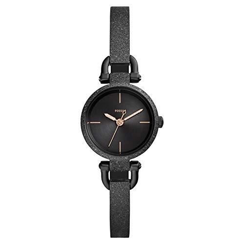 Fossil Georgia Mini DREI-Zeiger schwarz Edelstahl Damen-Armbanduhr ES4480