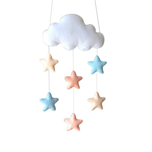 Tinksky Kids Room Tent Hanging Decor Stickers muraux Cloud Raindrop Raining DIY Baby Room Decor Baby Shower Party Supplies (Star)
