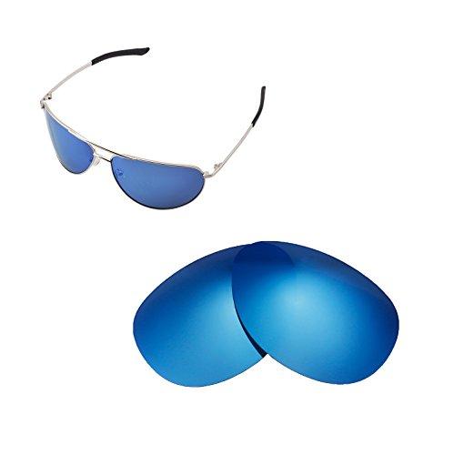 Walleva Ersatzgläser für Smith Serpico Sonnenbrille - Mehrfache Optionen verfügbar (Eisblau - Polarisiert)