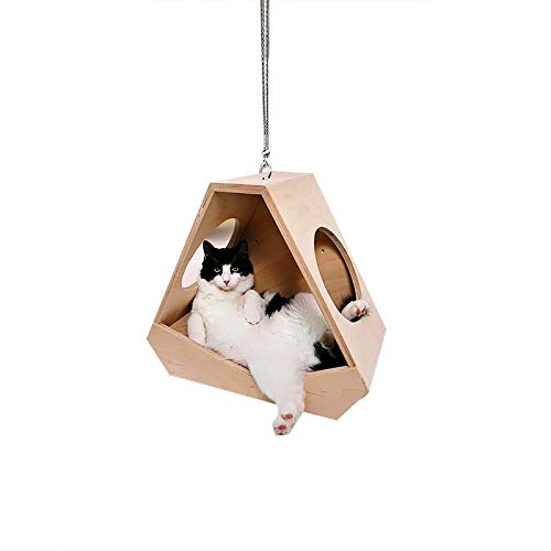 SUNTIRC Cat Car Hanging Ornament 2D, Flying Cat Car Auto Rearview Mirror Hanging, Cats Rear View Mirror Pendants, Cat Car Interior Decoration for Cat Lovers