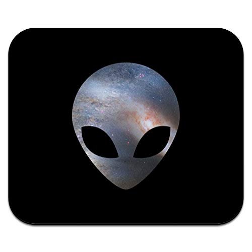 Alien Head in Space Low Profile Thin Mouse Pad Mousepad