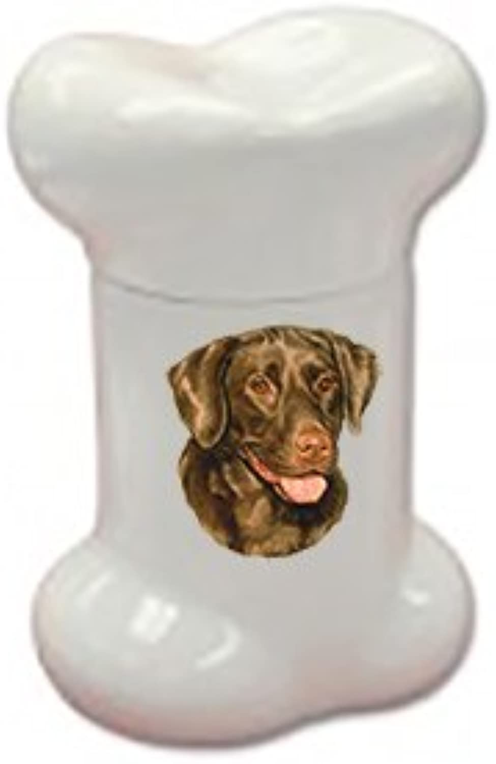 Best of Breed Chocolate Labrador Doggie Bone Treat Jar