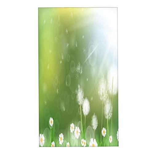 CIKYOWAY Juegos de Toallas Flores de Diente de león Sol Brillante Toallas de Mano multipropósito para baño,Manos,Cara,Gimnasio y SPA Absorbente Suave 40x70cm