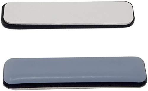 16 Stück Teflongleiter, Möbelgleiter, Bodenschutz, grau, 24 x 100 mm, selbstklebend, Stuhlgleiter.