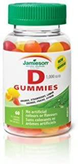 Jamieson Vitamin D Gummies 1,000 IU - Orange, Strawberry, Lemon, 60s