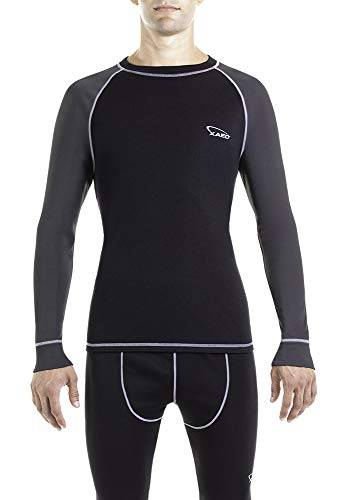 XAED - Camiseta térmica de esquí para hombre, negro