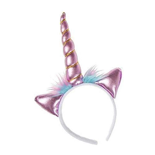 Einhorn Haarreif | Unicorn Tiara | lila oder rosa | Regenbogen | 1 Stück