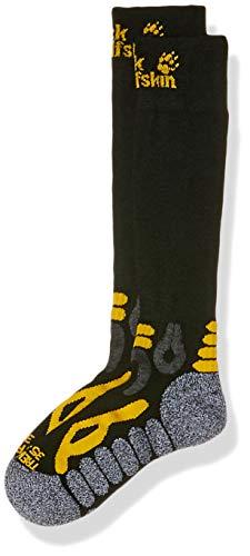 Jack Wolfskin Trekking Merino Compression Chaussettes Unisex Mixte Adulte, Black, FR : 2XL (Taille Fabricant : 47-49)