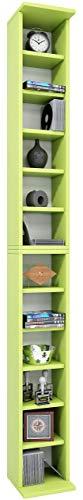 VCM Bigol Opbergkast, dvd, houten kast, staand rek, meubilair aanbouwprogramma groen